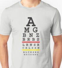Snellen automotive eye test - German flag color Unisex T-Shirt