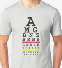 Tuned MB cars Snellen eye test with German flag T-Shirt