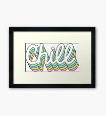 Retro Chill Framed Print