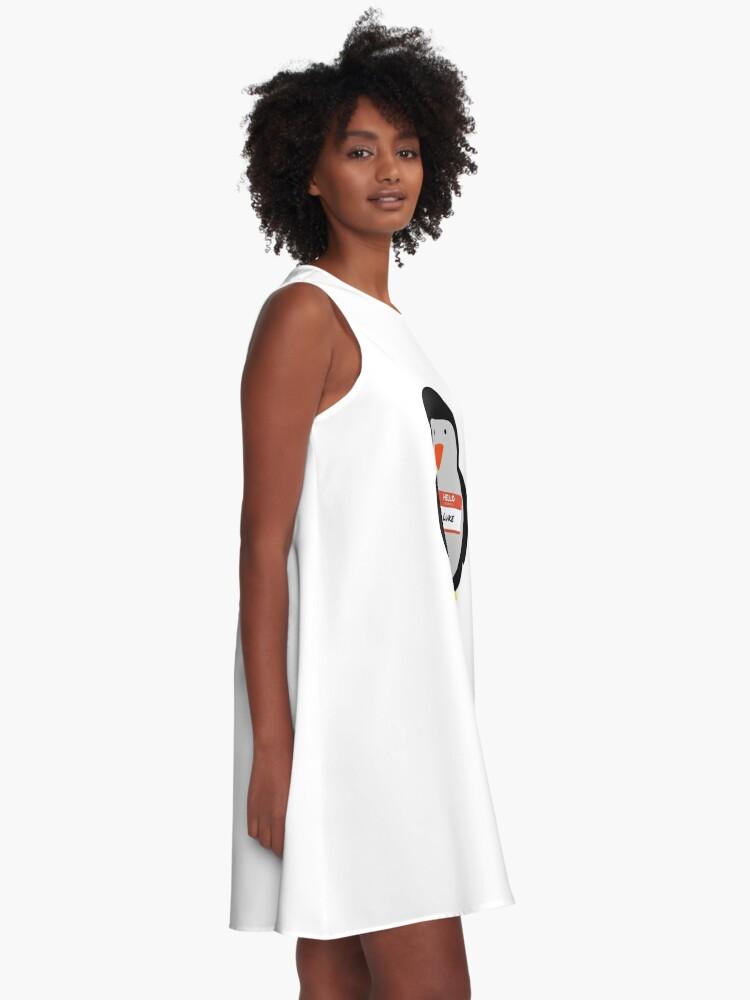 Alternative Ansicht von Luke Hemmings 5sos Pinguin A-Linien Kleid
