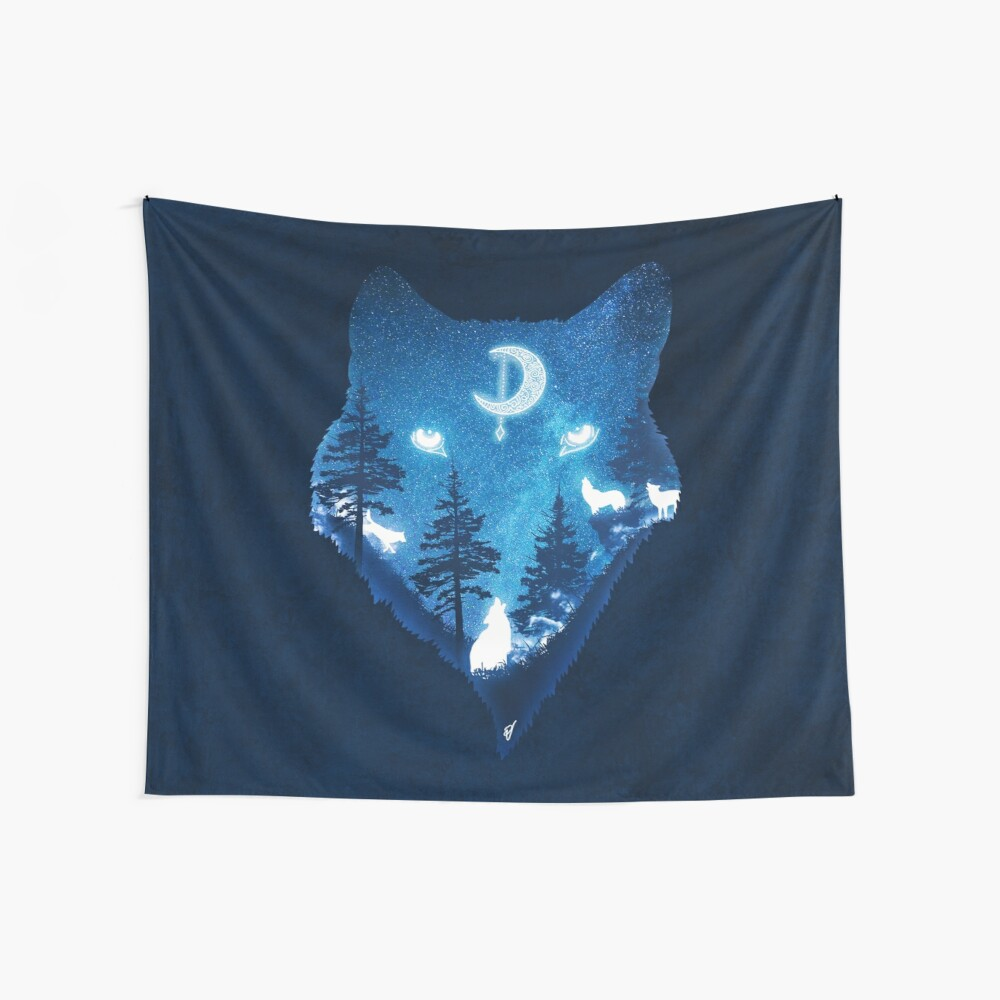 Moon Wolves Wall Tapestry