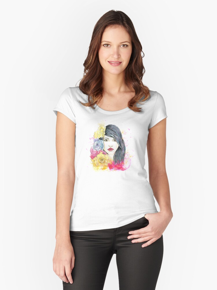 Spring Beauty Women's Fitted Scoop T-Shirt Front