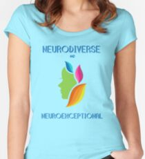 NEURODIVERSE and NEUROEXCEPTIONAL  Women's Fitted Scoop T-Shirt