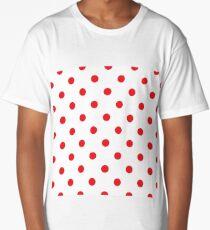 Polka dot fabric Retro vector Long T-Shirt