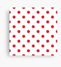 Polka dot fabric Retro vector Canvas Print