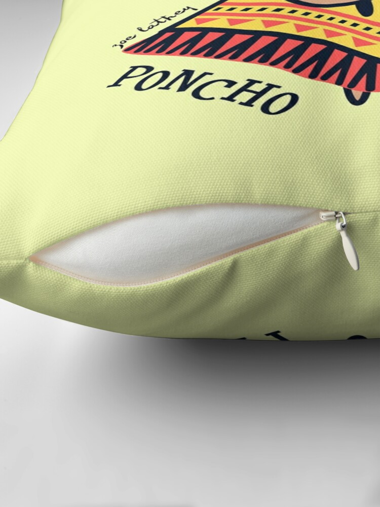 Alternate view of Poncho Fever Chihuahua Throw Pillow