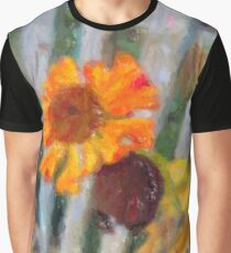 Yellow flower to the end Graphic T-Shirt