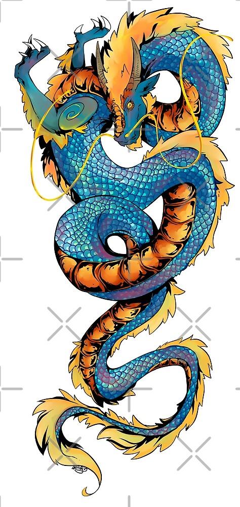 Blue Dragon by DilemmaArt