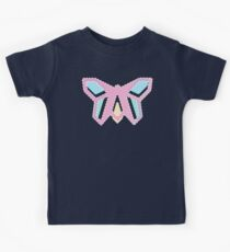 Pastel Pink Anigami Butterfly Kids Tee