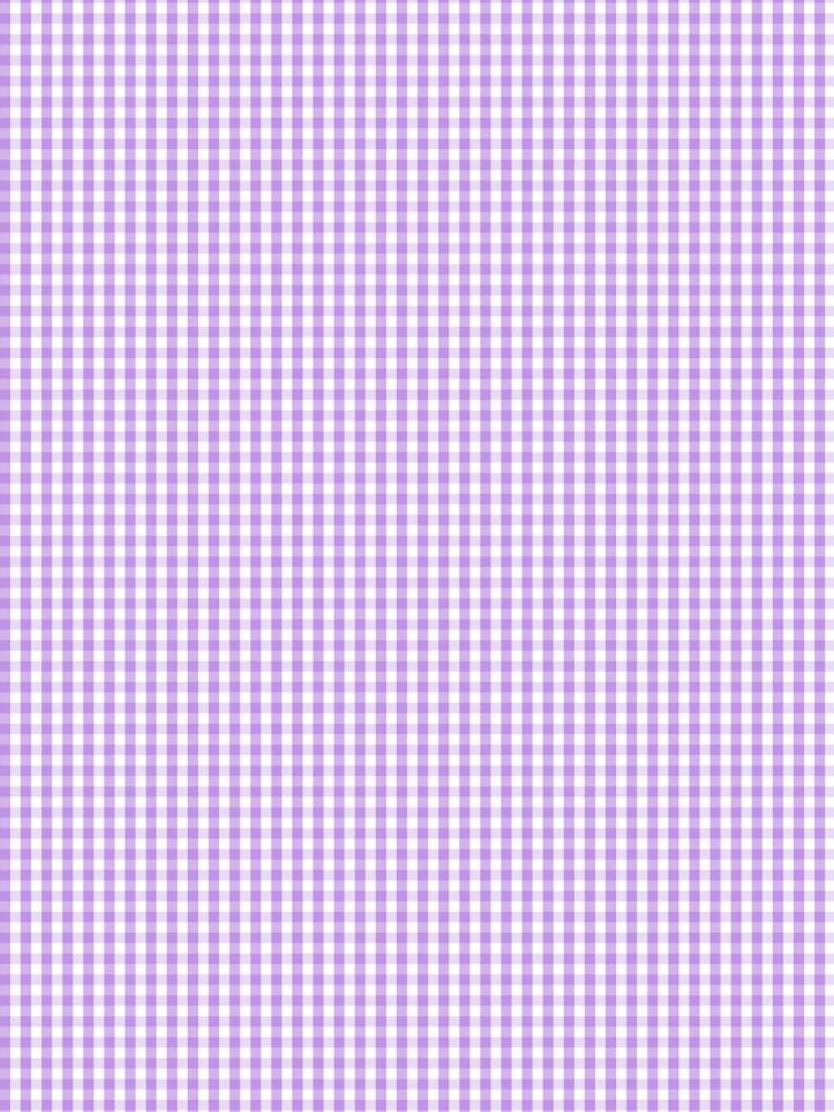 Lilac Gingham Check Plaid Tartan by podartist