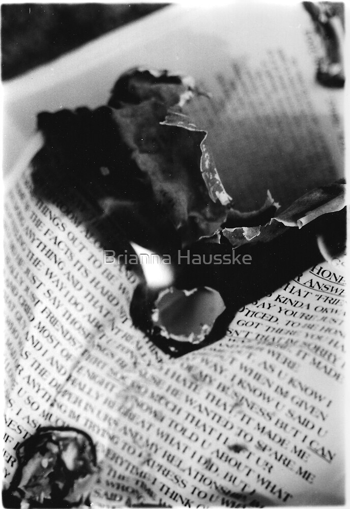 Burning Heart flames to my Loving Hate by Brianna Hausske