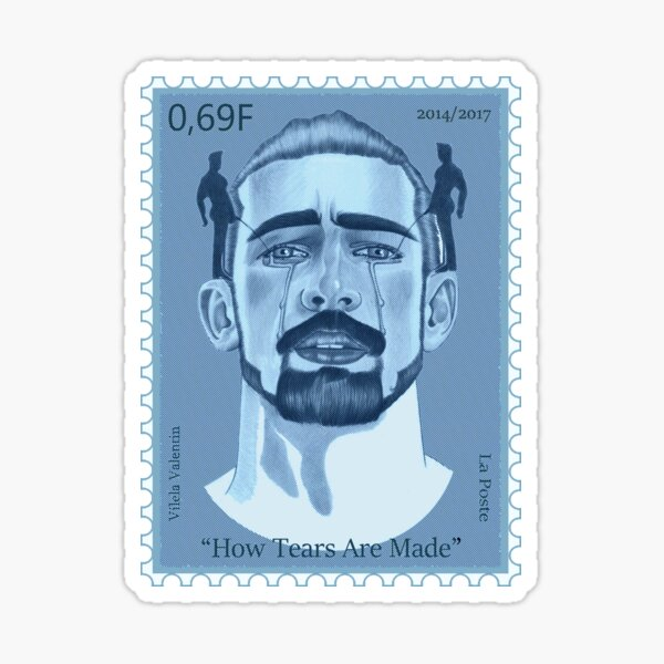 How Tears are Made Stamp Sticker