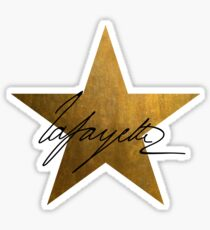 Lafayette Signature - Gold Star Sticker