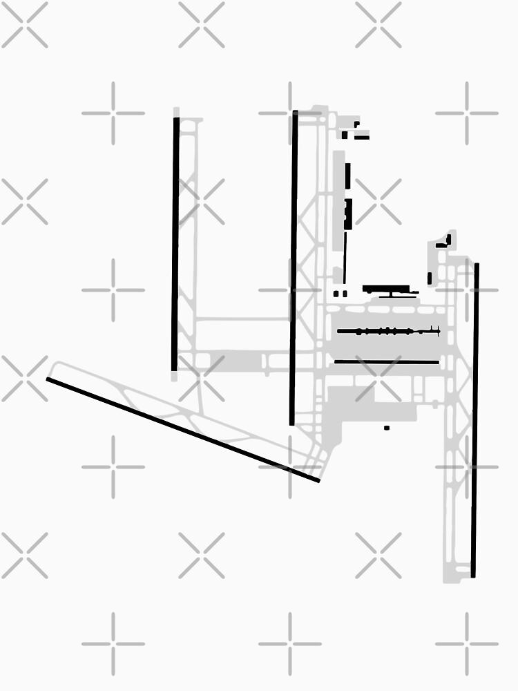 Washington Dulles Airport Diagram T Shirt By Vidicious