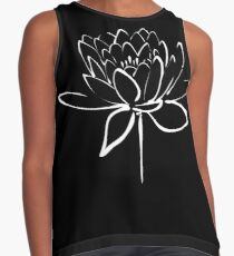 Lotus Flower Calligraphy (White) Contrast Tank