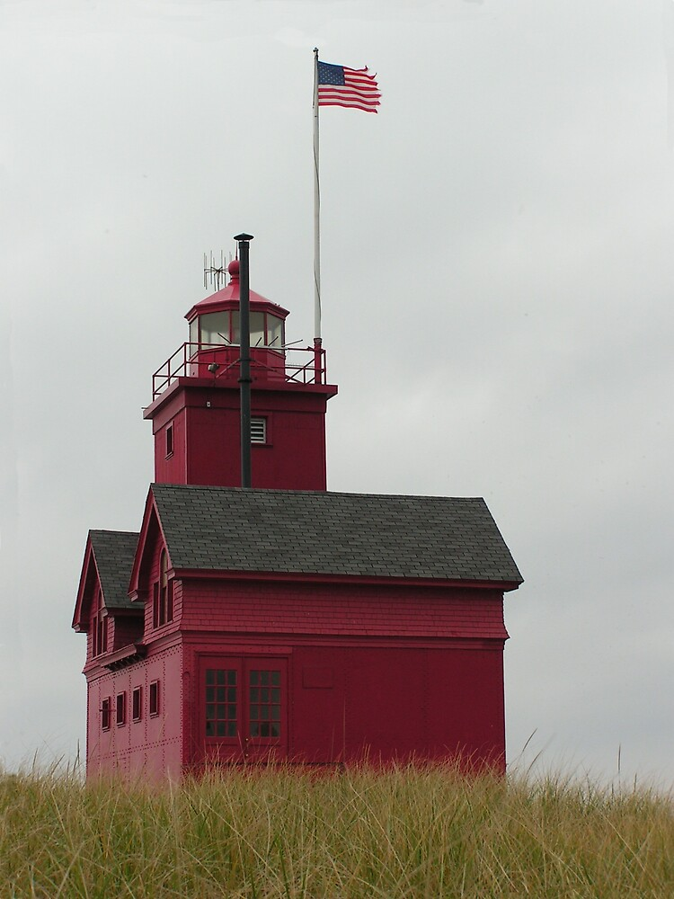 Holland Harbor Lighthouse by Brion Marcum