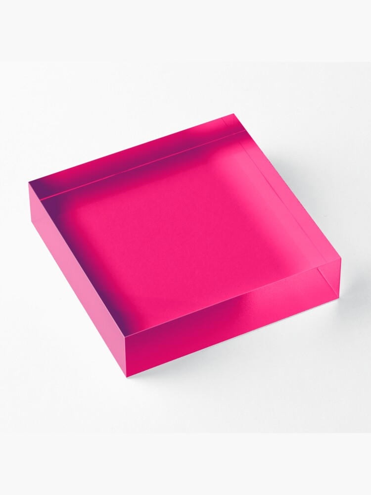 Alternate view of Super Bright Fluorescent Pink Neon Acrylic Block