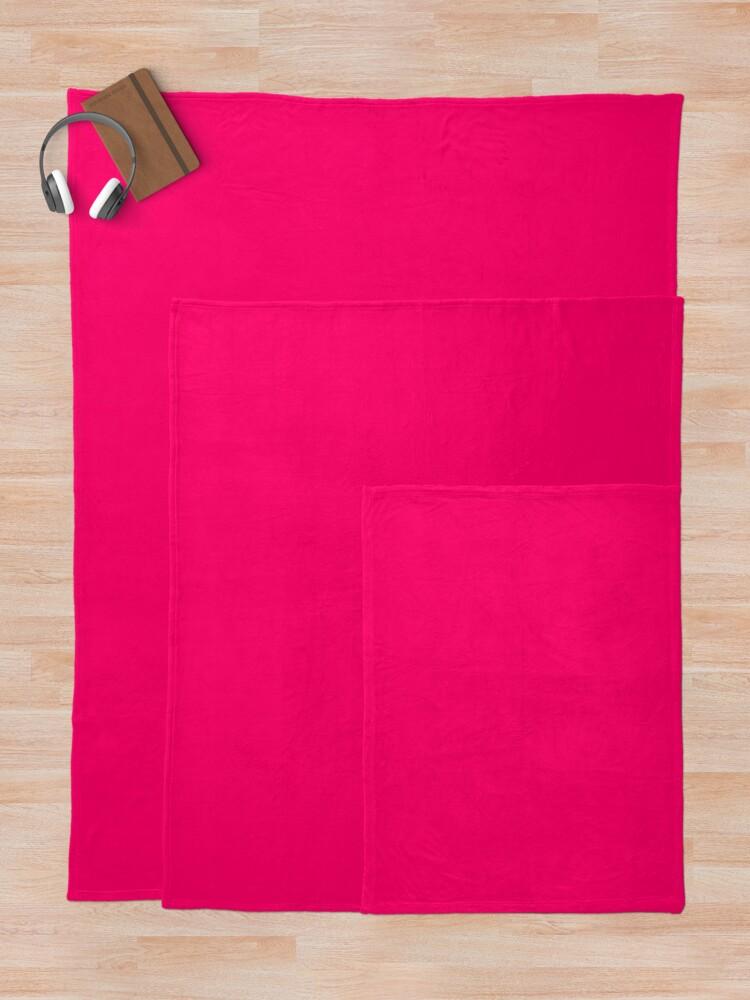 Alternate view of Super Bright Fluorescent Pink Neon Throw Blanket