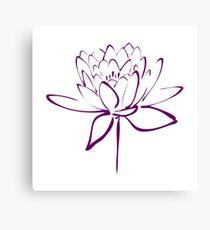Lotus Flower Calligraphy (Purple) Canvas Print