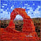 Delicate Arch - Arches National Park, Utah - Stained Glass Mosaic by skidgelstudios