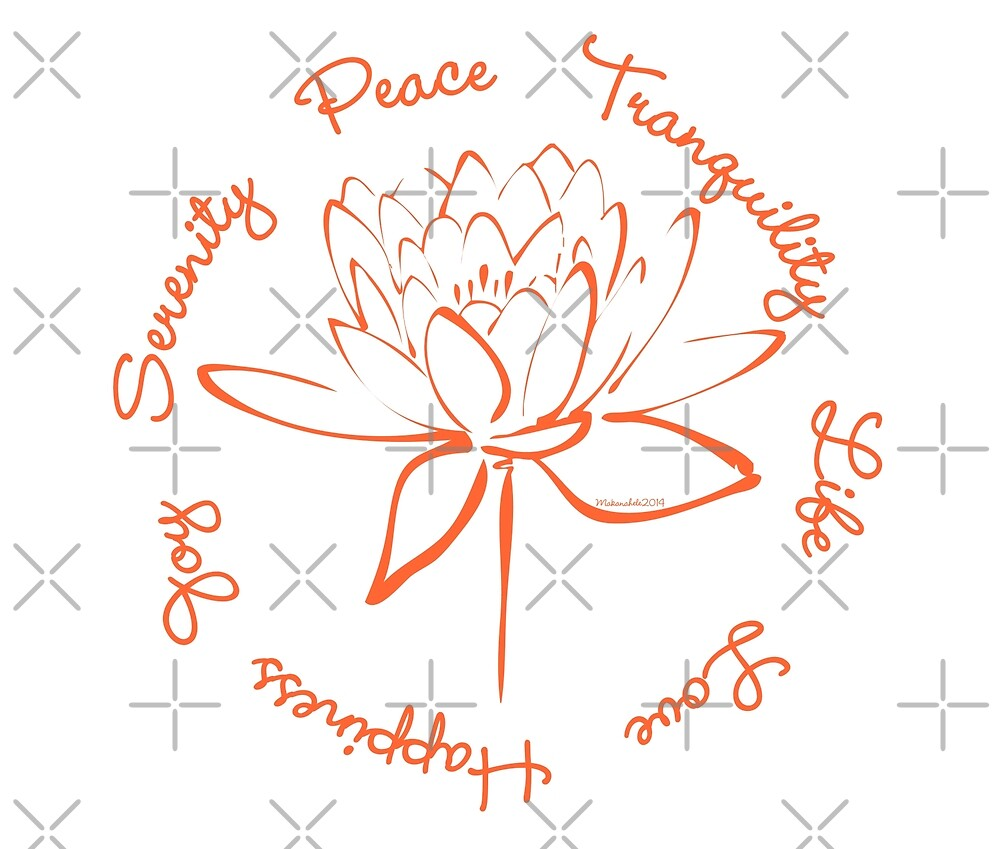 Serenity Tranquility Lotus (Orange) by Makanahele