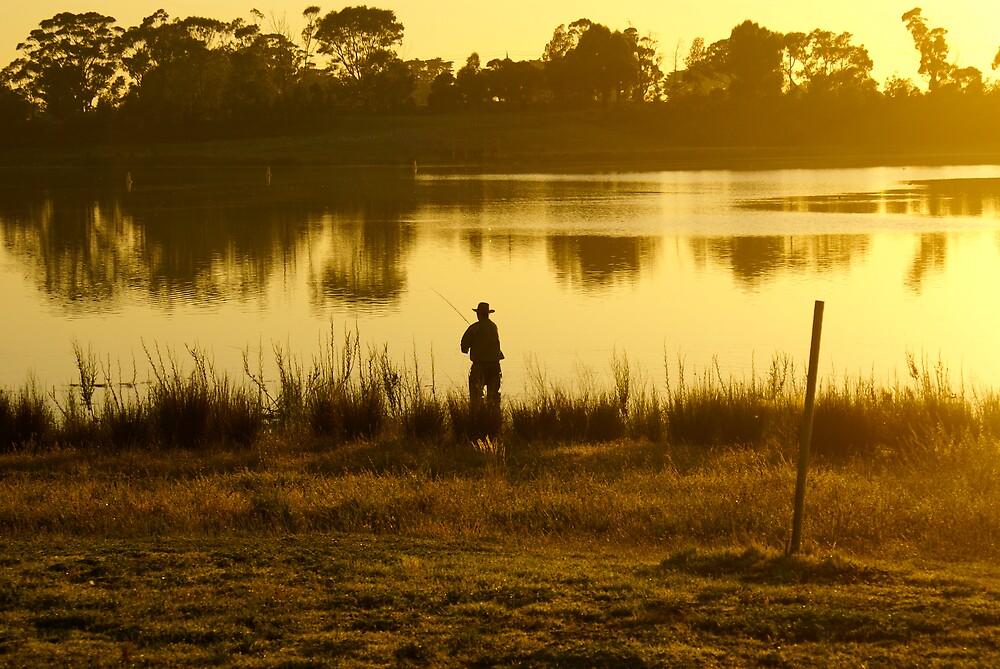 Fishing at Sunrise by Nigel Roulston