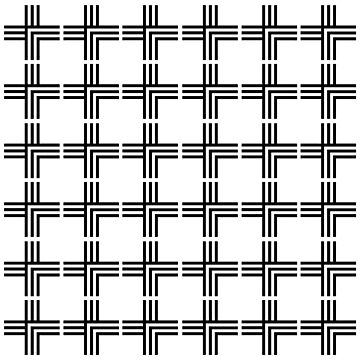 White and Black Grid Pattern by starkle