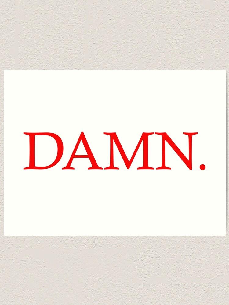 """Kendrick Lamar Humble Cover Poster DAMN 2017 Album Art Print 20×20 24×24/"""" 32×32/"""""""