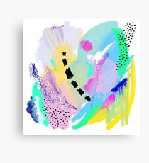 Abstract Painting in Pastel Colors Canvas Print
