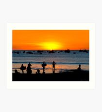 Bright Future - San Juan del Sur Beach at Sunset Art Print