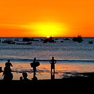 Bright Future - San Juan del Sur Beach at Sunset by Mark Tisdale