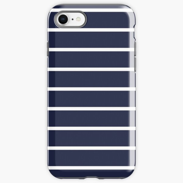 BLUE AND WHITE STRIPED iPhone Tough Case