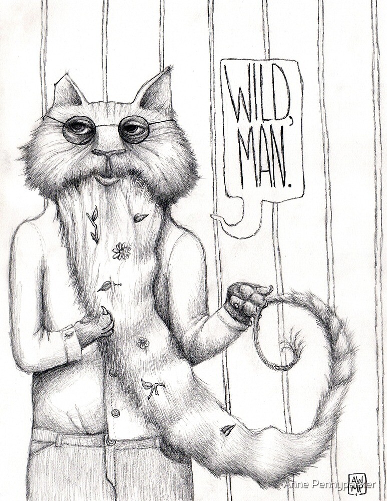 Hippie Cat: Wild, Man by Anne Pennypacker