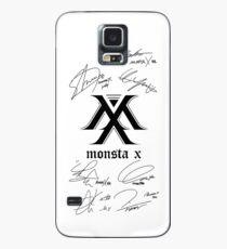 Funda/vinilo para Samsung Galaxy MONSTA X Monbebe + Firmas blancas