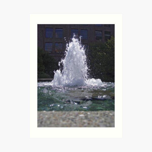 fountain of light Art Print