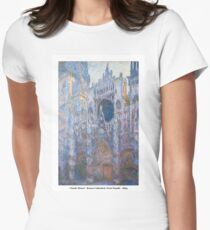 Claude Monet - Rouen Cathedral, West Façade - 1894 Women's Fitted T-Shirt