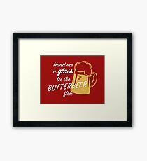 Butterbeer Flow Framed Print