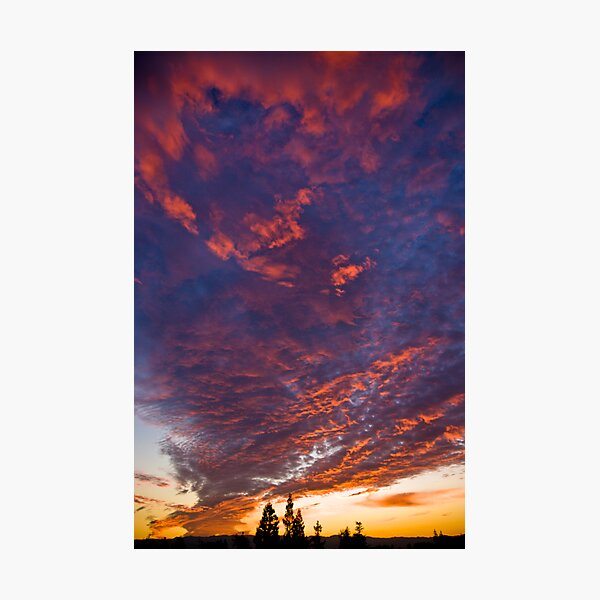 it was a maroon and cloudy night Photographic Print