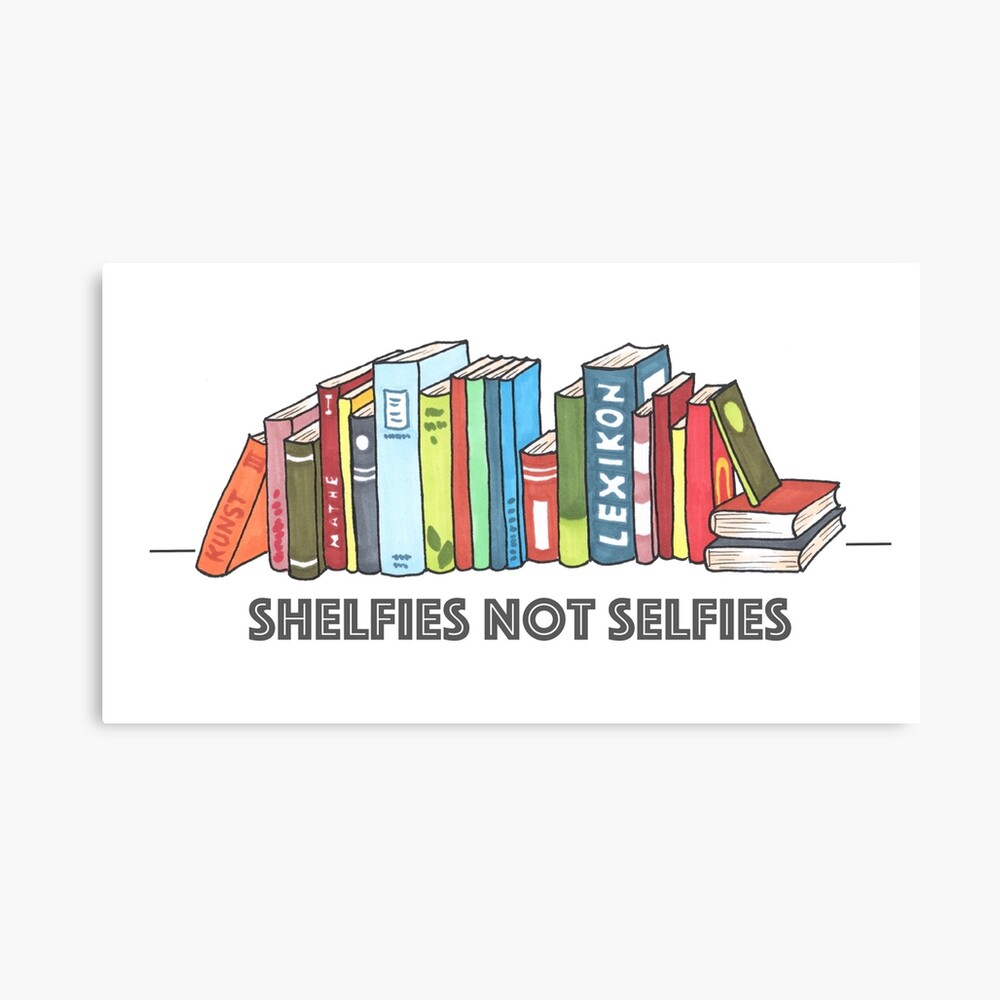 Shelfies No Selfies Lienzo
