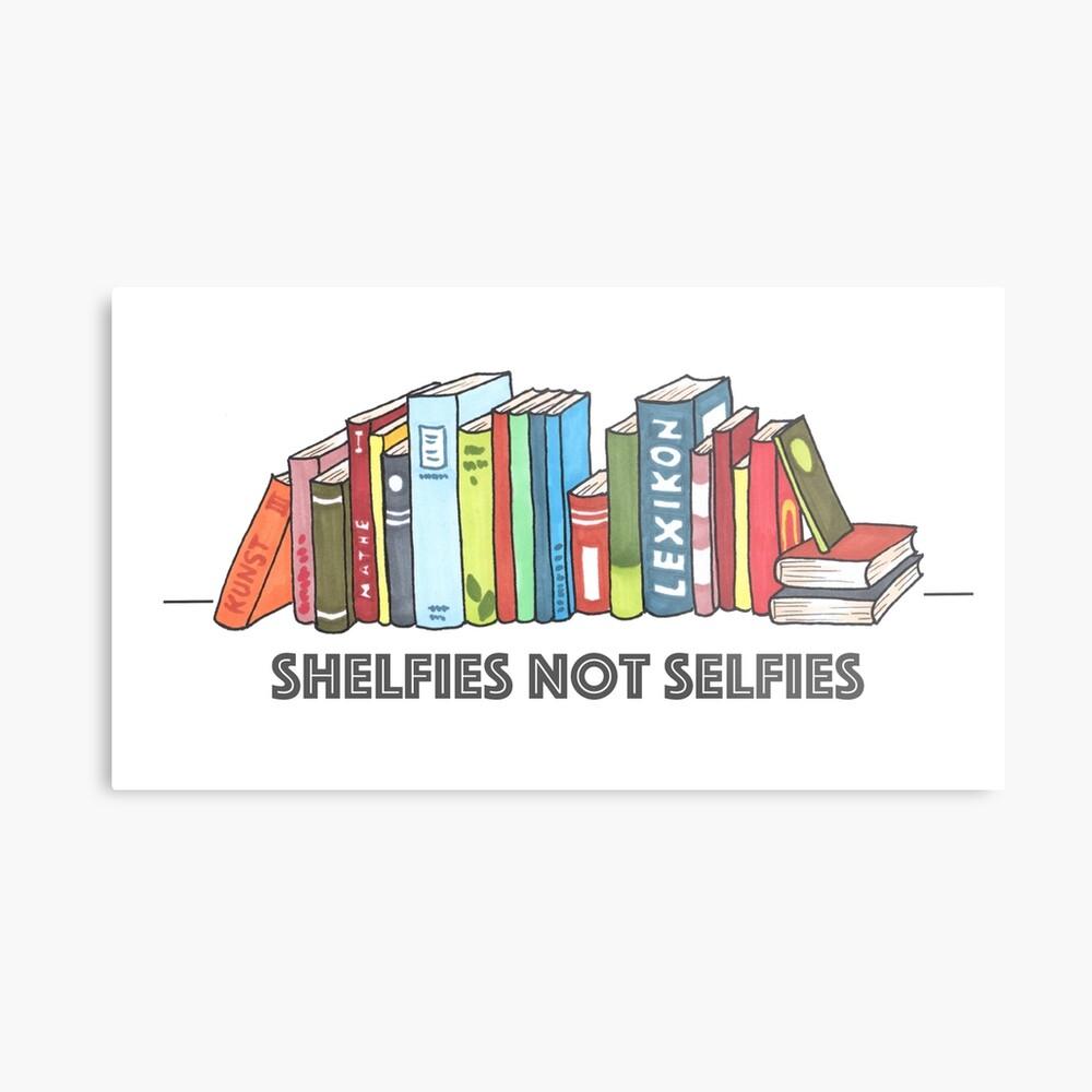 Shelfies No Selfies Lámina metálica
