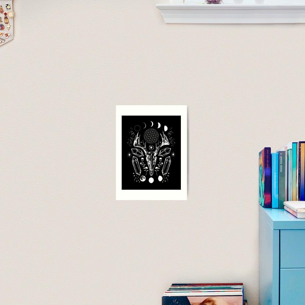 Crystal Moon. Art Print