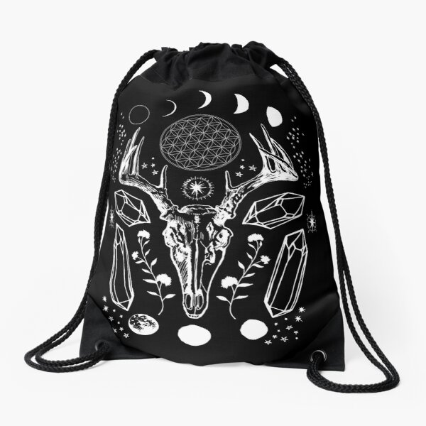 Crystal Moon. Drawstring Bag