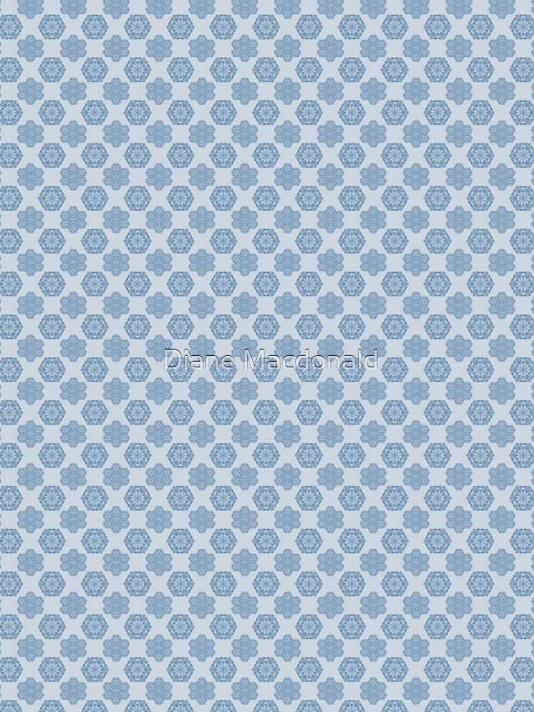 Seamless repeating pattern in blue by dianecmcac