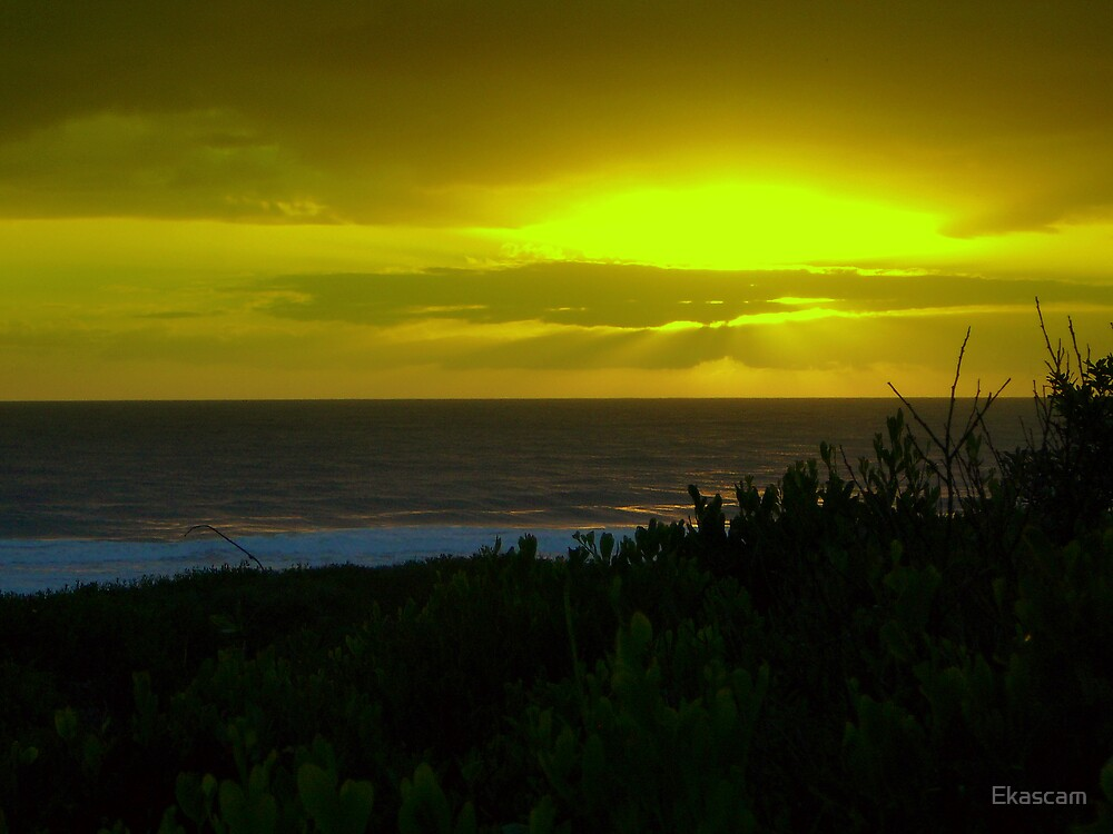YELLOW OVER THE OCEAN by Ekascam