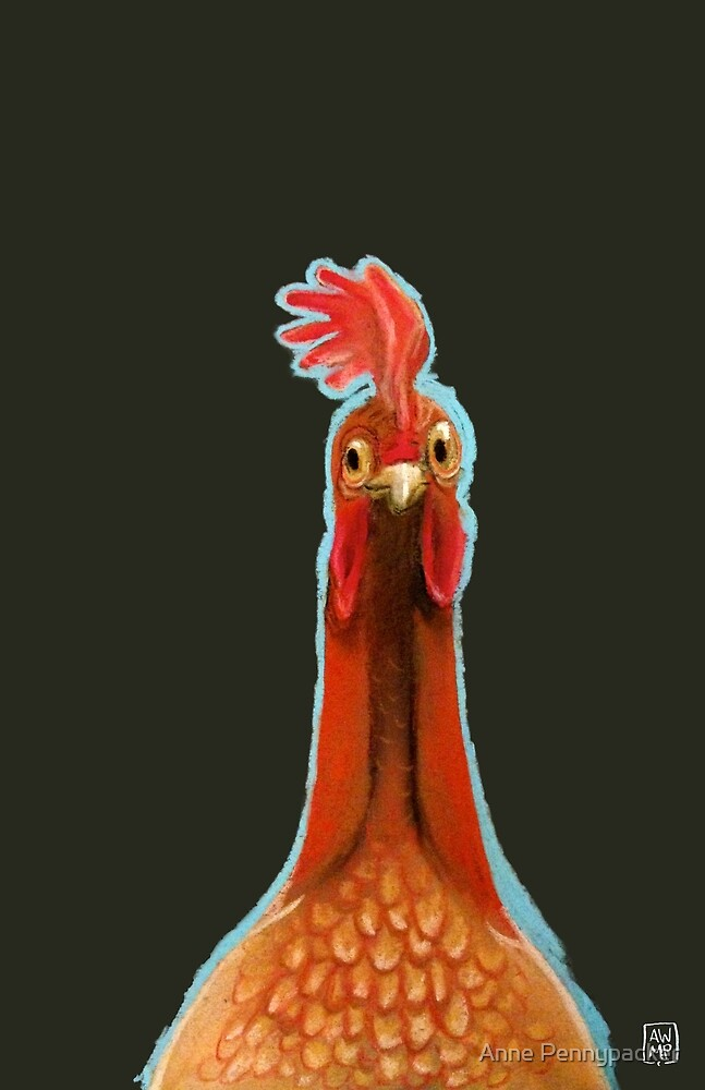 Plucky Cluckers - Pastel Chicken by Anne Pennypacker