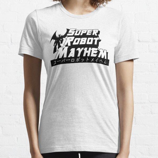 Super Robot Mayhem Black and White Mazinkaiser Essential T-Shirt
