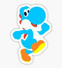 Light Blue Yoshi Sticker