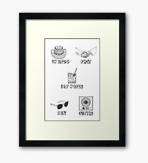 Jamie Foxx Characters Framed Print