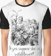 Do you suppose she's a wildflower? Original illustration.  Graphic T-Shirt