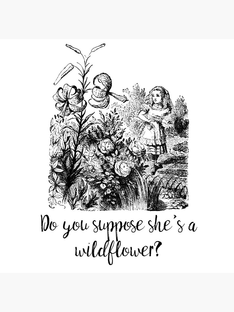Do you suppose she's a wildflower? Original illustration.  by peggieprints